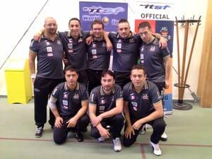 L'équipe de baby-foot d'Evry, vice-championne d'Europe multi-tables