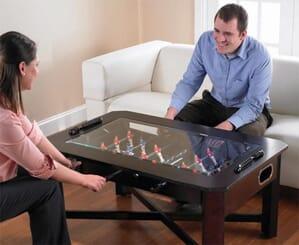 table basse de baby-foot pour jouer dans le salon entre amis