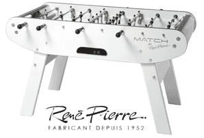 Baby foot René Pierre Match blanc design