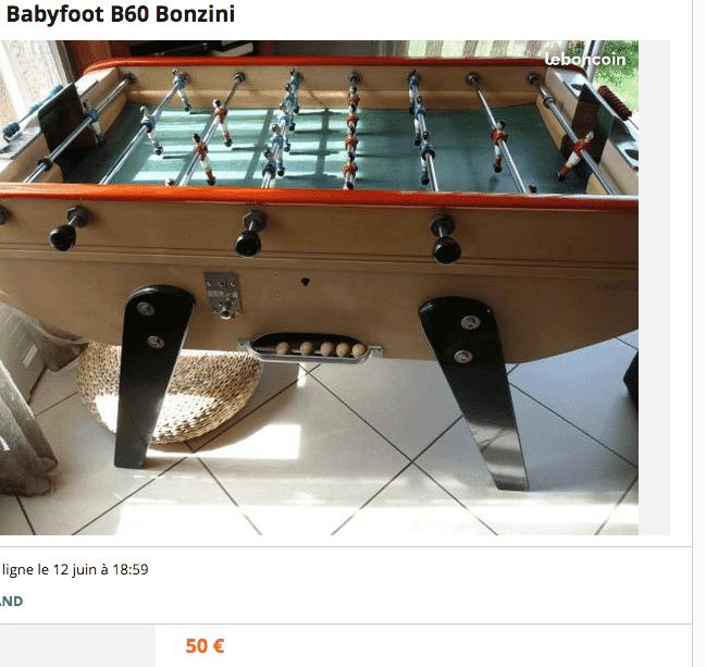 baby foot bonzini occasion le secret pour le trouver. Black Bedroom Furniture Sets. Home Design Ideas