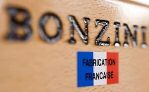 Logo baby foot bonzini fabrication française
