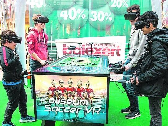 baby foot et réalité virtuelle - koliseum soccer VR