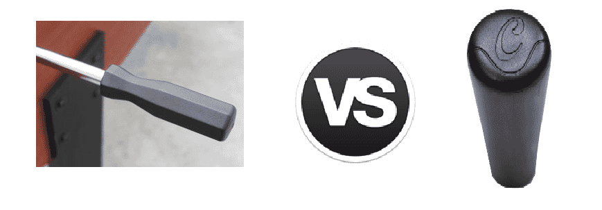 Comparatif poignées ancien et nouveau catenaccio sportivo