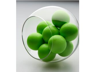 10 balles de baby foot en liège fluo
