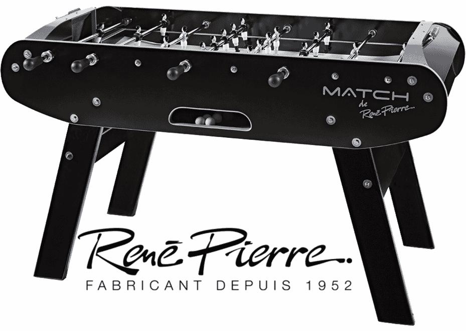 Baby foot René Pierre Match noir et blanc