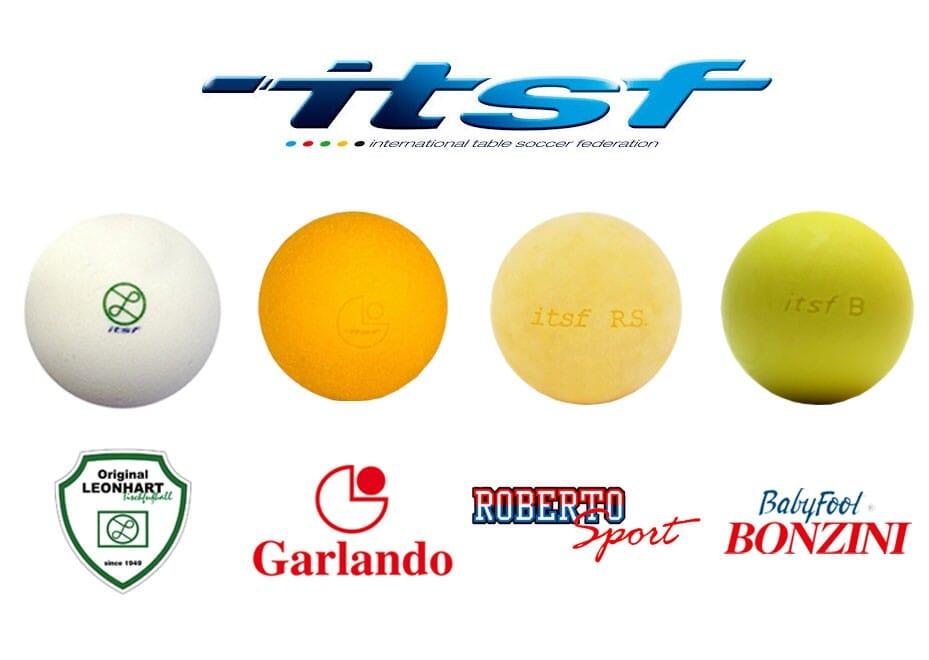 Balles de baby foot ITSF lot 4 marques