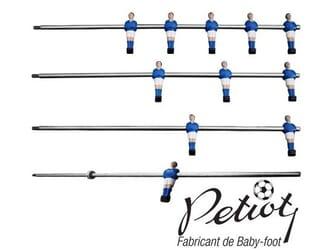 Joueurs baby-foot moulés sur barre Petiot Standard et amortisseurs intérieur
